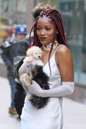 Keke Palmer is Looking All Stylish - Leaving a Building in Midtown New York 12/15/ 2016