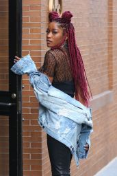 Keke Palmer - Leaving Serafina Restaurant in NYC 12/14/ 2016