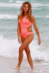Kelly Bensimon in a Pink Bikini at the Beach in Miami 12/3/ 2016