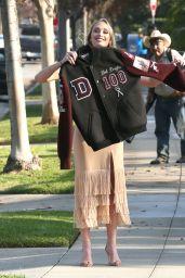 Kelsey Douglas - Arriving for Kirk Douglas