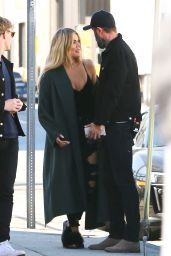 Khloe Kardashian - Visiting her Good American Denim Factory in LA, November 2016