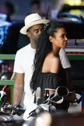 Kim Porter With P Diddy in St. Barth, December 2016