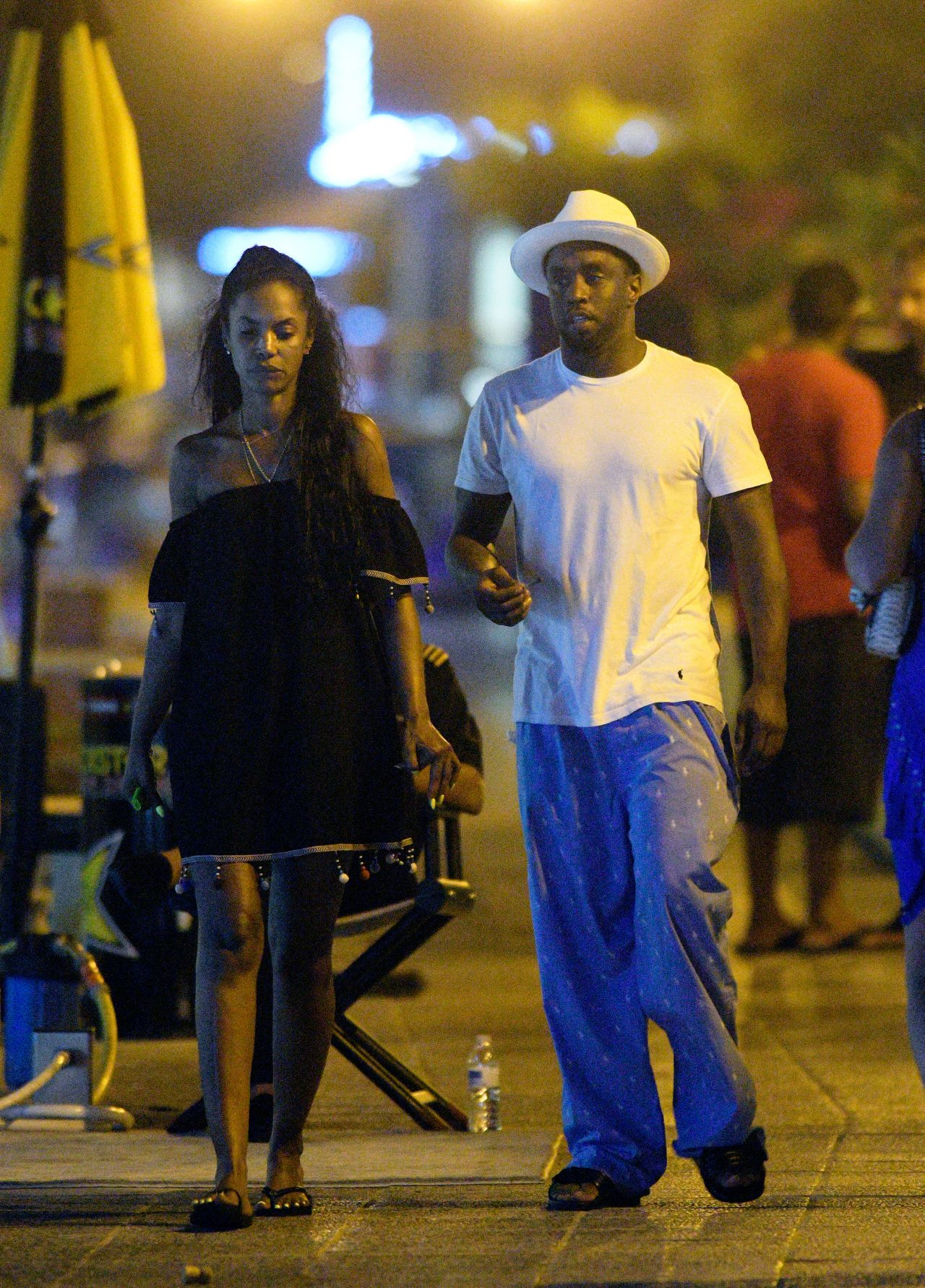 Kim Porter With P Diddy In St Barth December 2016