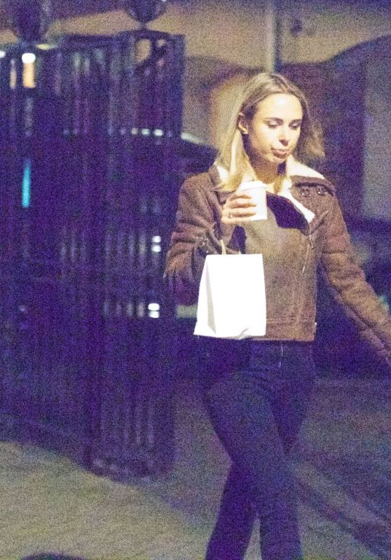 Kimberley Garner - Taking Her Dog For a Walk in London 12/27/ 2016
