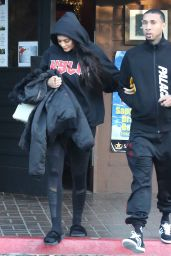 Kylie Jenner and Tyga - Leave a Restaraunt in Los Angeles 12/18/ 2016