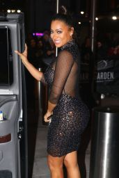 La La Anthony - Leaving Madison Square Garden after Jingle Ball in NYC 12/9/ 2016