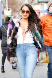 La La Anthony Street Style - New York 12/23/ 2016