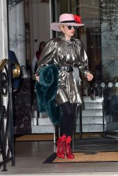Lady Gaga - Leaving Her Hotel in London, UK 12/7/ 2016