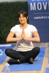Lea Michelle - Works Out and Meditates at a LIFTED Class at the Aerie Pop-Up in Soho NYC 12/15/ 2016