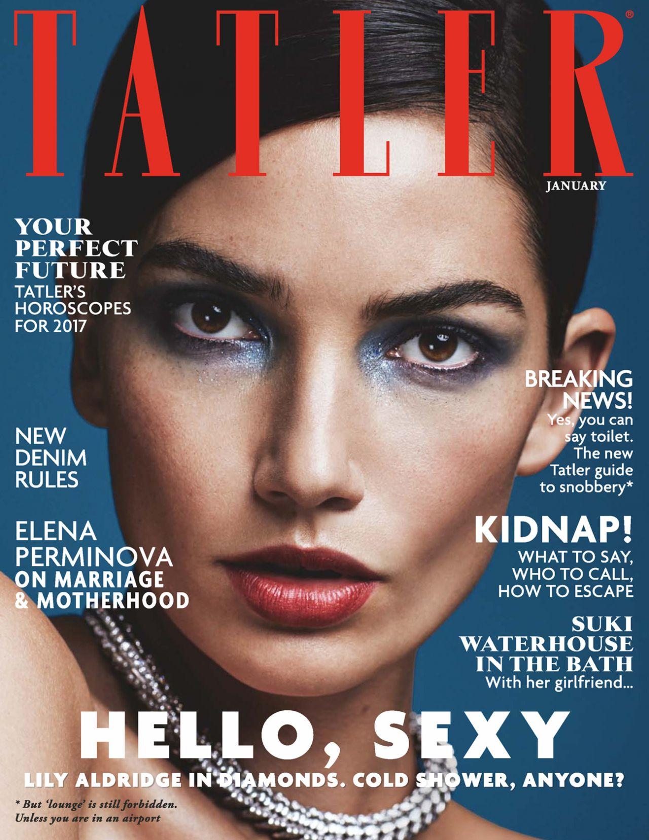 Lily aldridge tatler magazine uk january 2017 issue