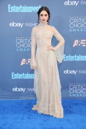 Lily Collins – 2016 Critics' Choice Awards in Santa Monica 12/11/ 2016