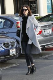 Lily Collins at The London Hotel in West Hollywood 12/13/ 2016