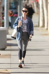 Lily Collins - Picks Up Iced Coffee After Leaving the Gym in West Hollywood 12/3/ 2016