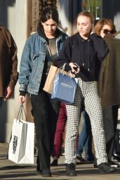 Lily-Rose Depp - Shopping With a Friend in Los Angeles 12/17/ 2016