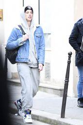 Lily-Rose Depp With Her Boyfriend in Paris 12/4/ 2016