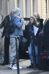 Lily-Rose Depp With Her Boyfriend in Paris 12/4/ 2016