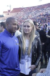 Lindsey Vonn and Kenan Smith - San Francisco 49ers