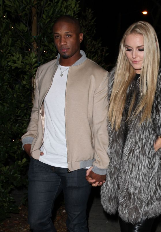 Lindsey Vonn and Los Angeles Rams Football player Kenan Smith Head to the Delilah Club in West Hollywood 12/18/ 2016