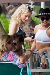 Lottie Moss & Jess Woolley Bikini Pics - Beach in Barbados 12/8/ 2016