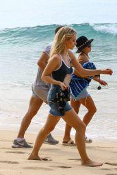 Lottie Moss & Jess Woolley Bikini Pics - Beach in Barbados 12/8/ 2016