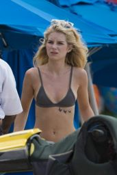 Lottie Moss & Jess Woolley Bikinis On The Beach in Bridgetown, Barbados 12/12/ 2016