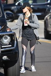 Lucy Hale - Grabbing an Iced Coffee from Starbucks in Studio City 12/1/ 2016