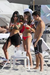 Madison Beer in Red Bikini - Miami 12/29/ 2016