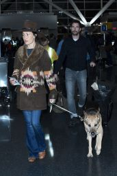 Maggie Q - Walk With Her Dog Through JFK Airport in New York 12/28/ 2016