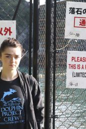 Maisie Williams - Campaigning for DolphinProject in Taiji, Japan 12/2/ 2016
