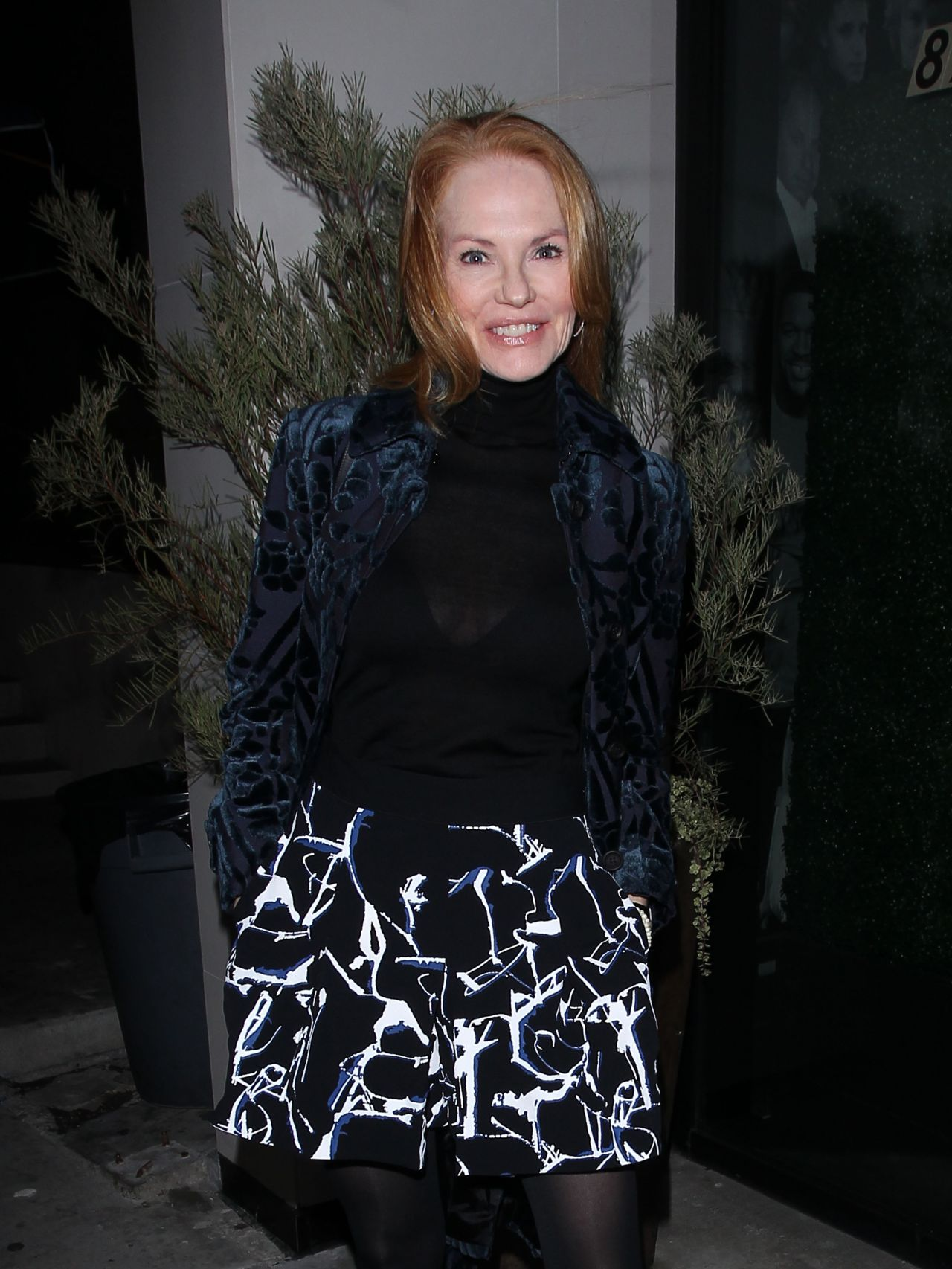 Marg Helgenberger at Catch Restaurant in West Hollywood 12/16/ 2016