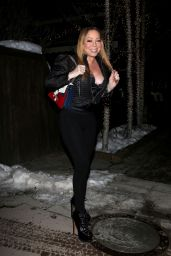 Mariah Carey - Out For Dinner in Aspen, Colorado 12/21/ 2016