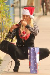 Mary Carey - Christmas Shopping With a Tiny Stuffed Santa - Studio City 12/12/ 2016