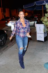 Masika Kalysha at Catch Restaurant in West Hollywood 12/22/ 2016