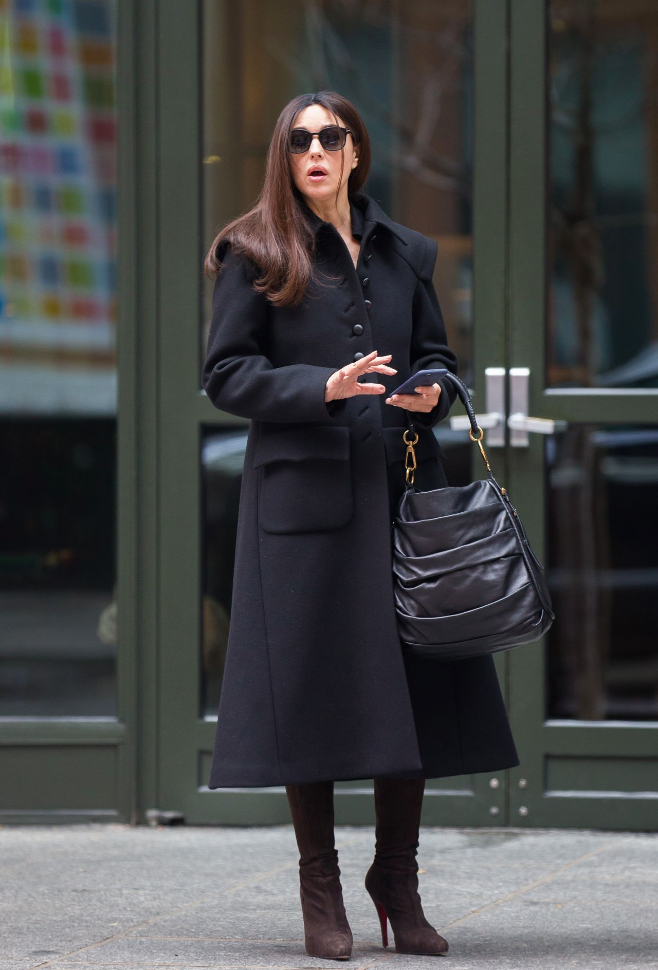monica bellucci leaves her hotel in soho new york 1130