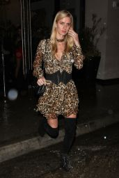 Nicky Hilton in Leopard Print Dress - After Dining at