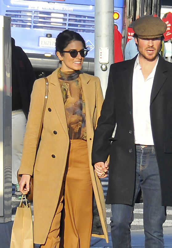 Nikki Reed and Her Husband Ian Somerhalder - Shopping in Santa Monica 12/27/ 2016