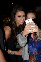 Nina Dobrev - Greeting Fans After Dinner at Figueira Rubaiyat Restaurant in São Paulo 12/1/ 2016