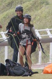 Nina Dobrev - Paragliding in Rio De Janeiro 12/4/ 2016