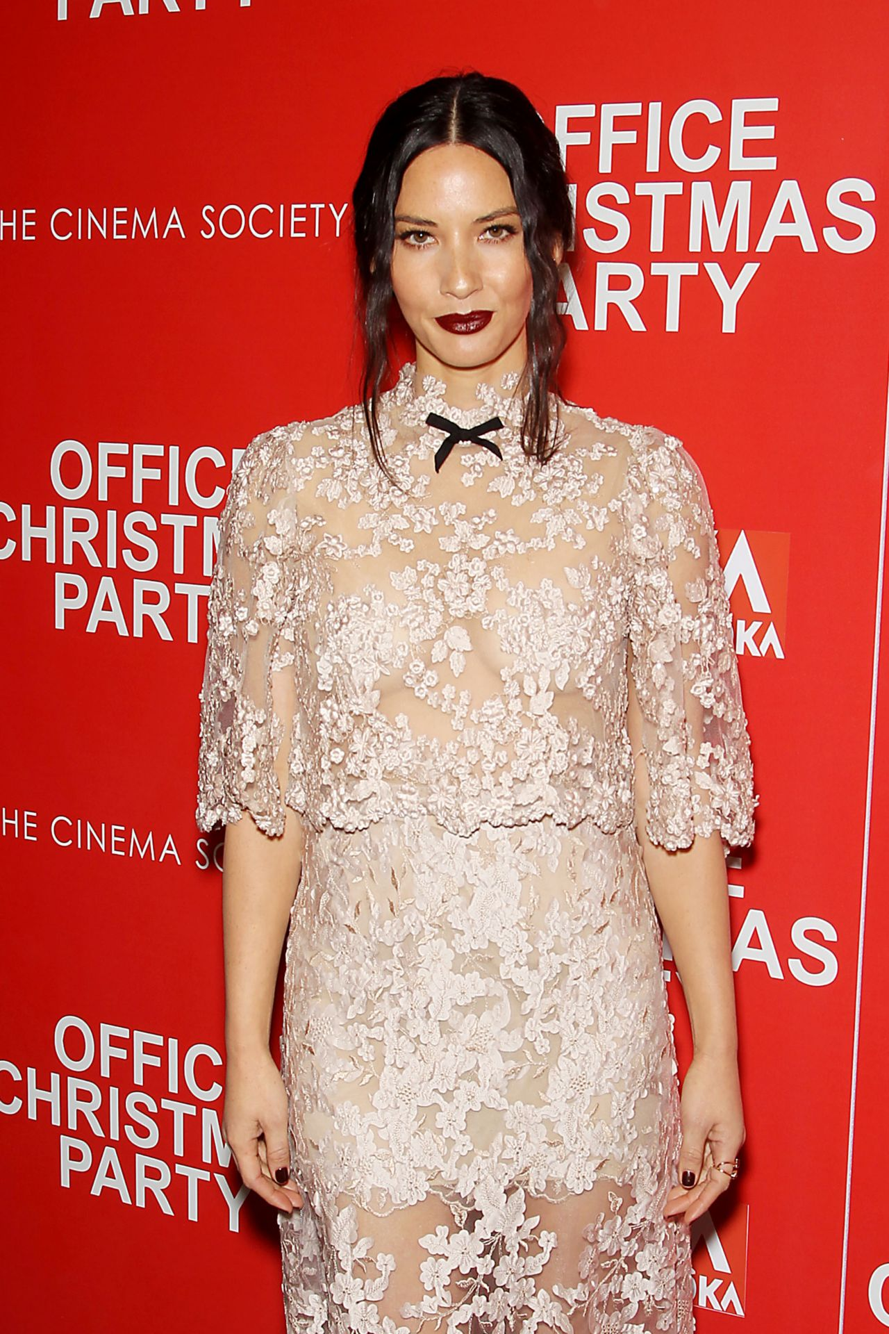 Olivia Munn HOT at Office Christmas Party Screening