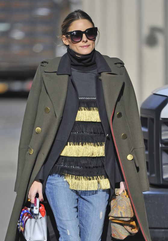 Olivia Palermo Street Style - Out in New York City 12/23/ 2016