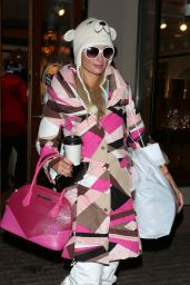 Paris Hilton - Shopping For Ski Gear in Aspen, Colorado 12/29/ 2016