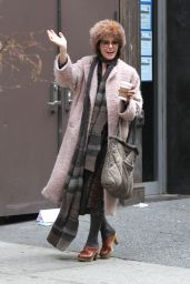 Parker Posey - Bundles Up While Out in Manhattan