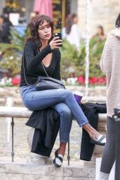 Paz de la Huerta - Takes a Selfie While Out Shopping in West Hollywood 12/24/ 2016