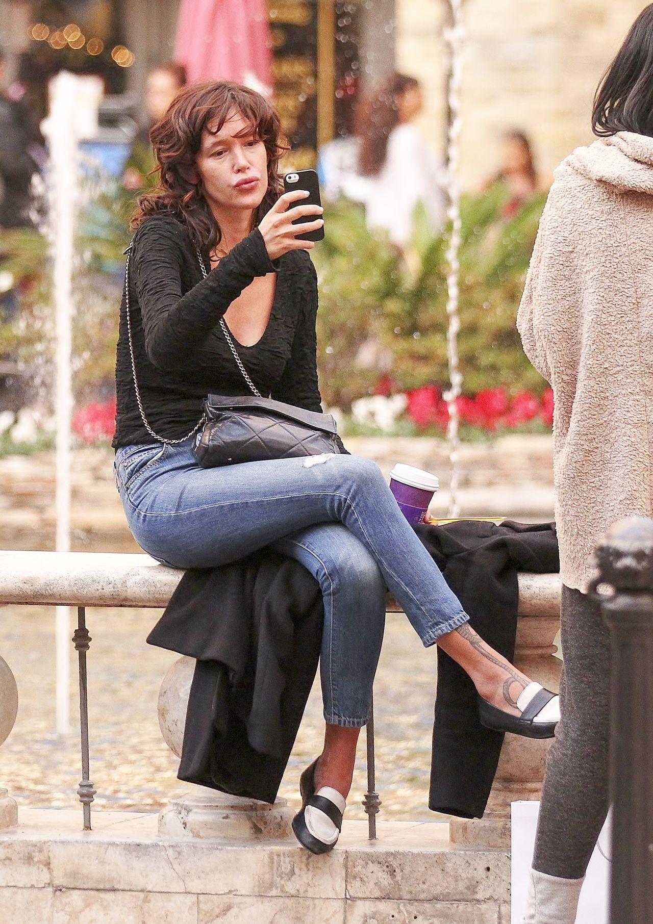 Paz de la Huerta - Takes a Selfie While Out Shopping in ...