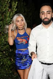 Pia Mia Perez in All Blue Outfit -
