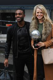 Portia Oduba and Ore Oduba - Leaves the ITV Studios in London 12/23/ 2016