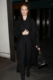 Rosie Huntington-Whiteley - Dines at Madeo Restaurant in Hollywood, CA 12/10/ 2016