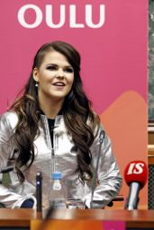 Saara Aalto - Press Conference in Oulu, Finland 12/28/ 2016