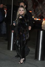 Sabrina Carpenter - Arrives at Madison Square Garden in New York 12/9/ 2016