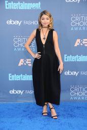 Sarah Hyland – 2016 Critics' Choice Awards in Santa Monica 12/11/ 2016